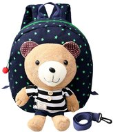 MRSMR Bear Kids Boys Girls Detachable Backpack Anti-lost 1-4 Years