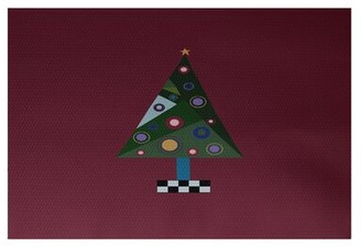 The Holiday Aisle Crazy Handwoven Cranberry Burgundy Rug Rug Size: Rectangle 2' x 3'