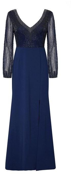 Adrianna Papell Sheer Long Sleeve Dress