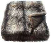 Threshold Raccoon Faux Fur Throw Blanket