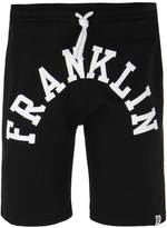 Franklin & Marshall Black Contrast Logo Jersey Shorts