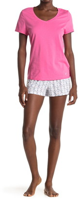 Nautica T-Shirt & Shorts 2-Piece Pajama Set