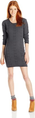 Angie Women's Juniors Long-Sleeve Knit Sweater Dress