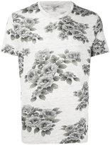 Majestic Filatures floral print T-shirt - men - Linen/Flax - L