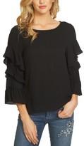 CeCe Women's Tiered Ruffle Sleeve Blouse