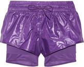 adidas by Stella McCartney Layered Climalite® shell, jersey and mesh shorts