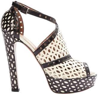 Alaia White Leather Heels