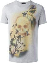 Alexander McQueen skull and bird print T-shirt