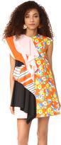 MSGM Mixed Print Dress