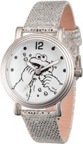 EWatchFactory Silver Cookie Monster Leather-Strap Watch - Girls