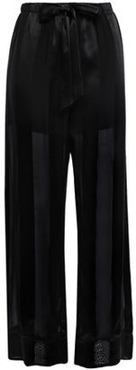 Kiki de Montparnasse Le Cou Cou Striped Silk-satin And Chiffon Pajama Pants