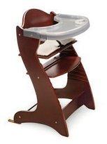 Badger Basket Best Quality EmbassyTM Adjustable Wood High Chair - Cherry By Badger