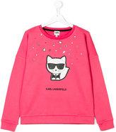 Karl Lagerfeld cat print sweatshirt