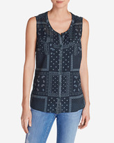Eddie Bauer Women's Packable Sleeveless Shirt - Print