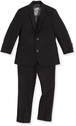 Appaman Boys' Two-Piece Mod Suit, Black, 2T-14
