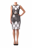Joseph Ribkoff Diamond Pattern Dress