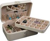 Asstd National Brand Mele & Co. Lila Ivory Faux-Leather Jewelry Box