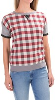 Kenneth Cole Reaction Plaid Shirt - Short Sleeve (For Women)