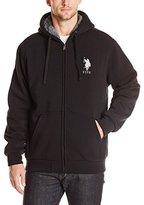 U.S. Polo Assn. Men's Sherpa-Lined Fleece Hoodie