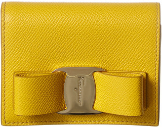 Salvatore Ferragamo Vara Bow Leather Bifold Wallet