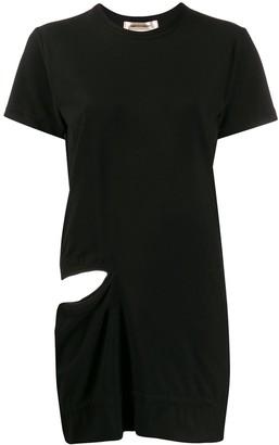 Comme des Garcons long-line cut out T-shirt