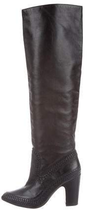 Ulla Johnson Leather Over-The-Knee Boots