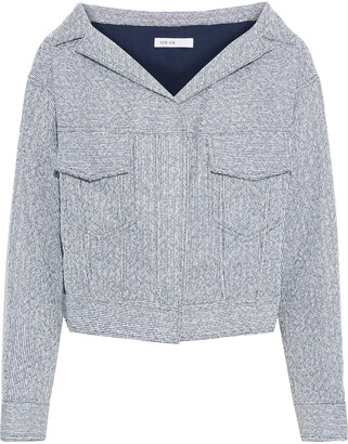 ADEAM Cropped Metallic Boucle-tweed Jacket