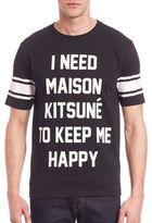 MAISON KITSUNÉ Caption Printed T-Shirt