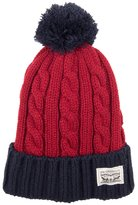 Levi's Men's Colorblock Cable-Knit Cuffed Pom Beanie