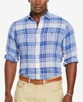 Polo Ralph Lauren Men's Big & Tall Plaid Linen Sport Shirt