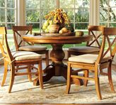 Pottery Barn Sumner Extending Pedestal Table & Aaron Chair 5-Piece Dining Set