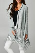 Love Stitch Lovestitch Knit Fringe Cardigan