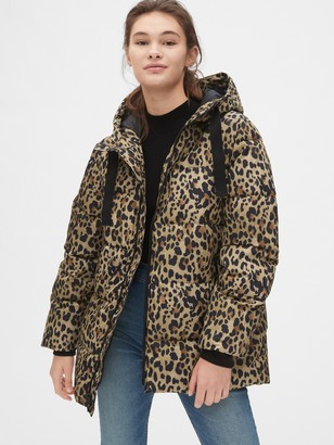 Gap ColdControl Max Hooded Print Puffer Jacket
