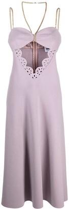 Seen Users cutout A-line dress