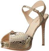 Nine West Women's Cruzeto Metallic Heeled Sandal
