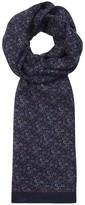 Eton Paisley-print Wool Scarf