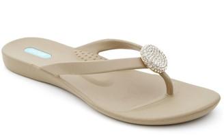 OKA b. OkaB Crystal Pendant Sandals - Ella