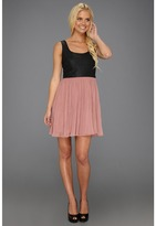 BB Dakota Elina Dress (Black/Cashew Pink) - Apparel