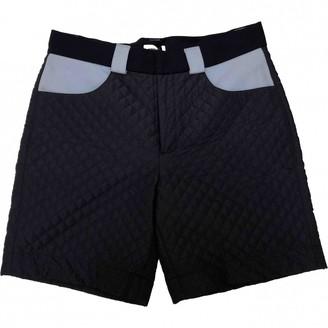 Au Jour Le Jour Navy Cotton Shorts for Women
