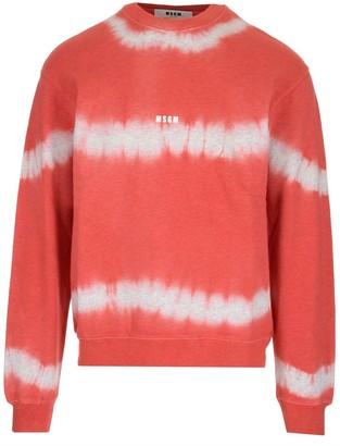 MSGM Tie Die Logo Sweatshirt