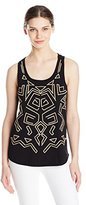 Lucky Brand Women's Aztec Embroidered Tank