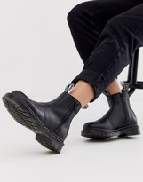 Dr. Martens 2976 zip leather ankle boots in black