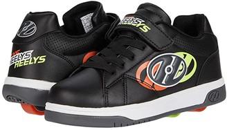 Heelys Dual Up x2 (Little Kid/Big Kid) (Black/Neon Yellow/Flame) Boys Shoes