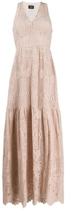 Liu Jo Floral Lace Patterned Tiered Dress