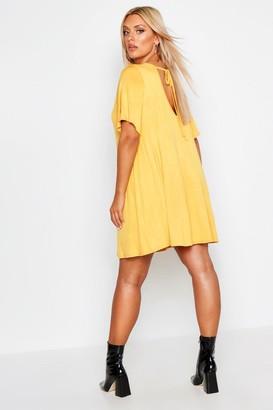 boohoo Plus V Neck Swing Dress