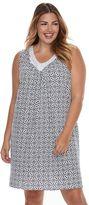 Croft & Barrow Plus Size Pajamas: Sleeveless V-Neck Nightgown