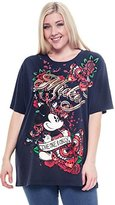 Disney Plus Size T-shirt Mickey Mouse One and Only Tattoo Print