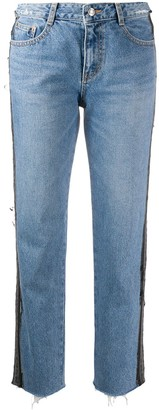 Sjyp Patch Detail Straight-Leg Jeans