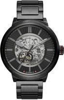 Armani Exchange A X Men's Automatic ATLC Black Stainless Steel Bracelet Watch 49mm AX1416