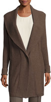 Lafayette 148 New York Wool Ribbed Cardigan, Maple